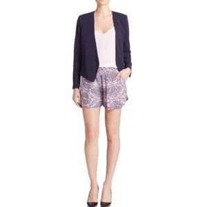Rebecca Taylor Silk Paisley Print Silk Shorts